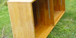 Old Bookcase to a Mid century Tv cabinet