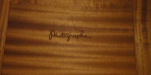 Mahogany Photo box